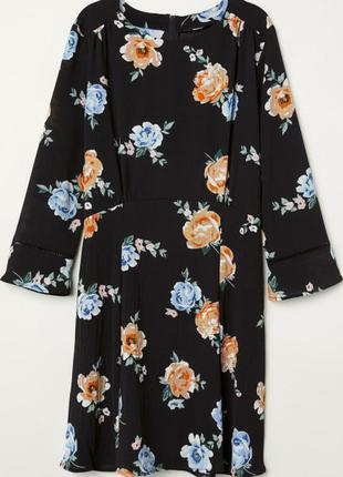 Шифоновое платье мини в цветы\шифонова сукня міні в квіти\плаття