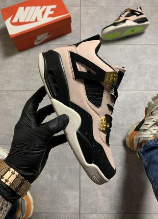 Мужские кроссовки nike air jordan 4 retro pink space😍