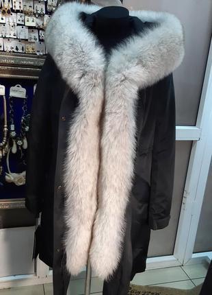 Теплая куртка с натуральным мехом