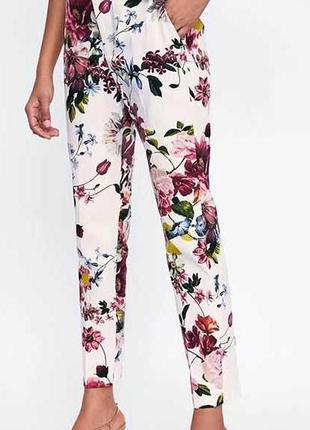 🌹🌹🌹женские летние белые зауженные, укороченный брюки 7\8, штан...