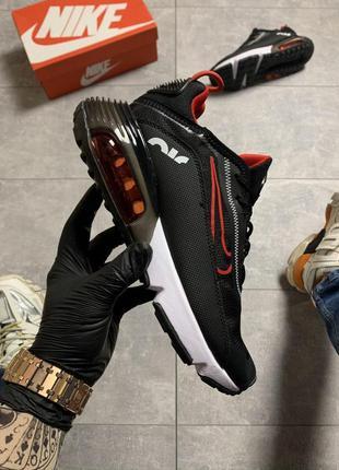 Мужские кроссовки nike air max 2090 black red😍