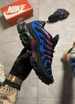 Женские кроссовки nike air max tn plus black blue 😍