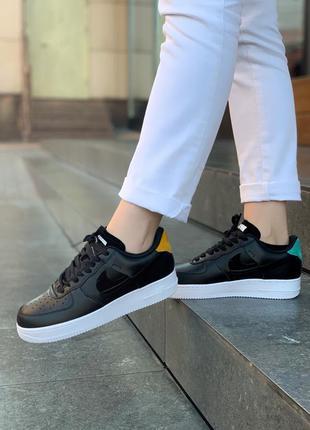 Nike air force lunar шикарные кожаные кроссовки найк в черном ...