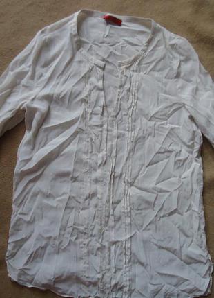 Фирменная шелковая блуза туника
