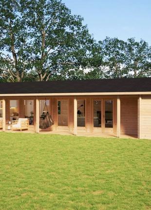 Дом деревянный из профилированного бруса 7х18
