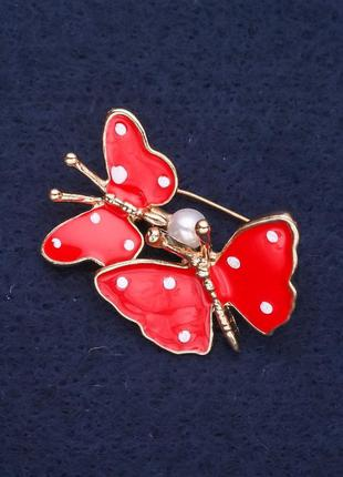 Брошь бабочки эмаль