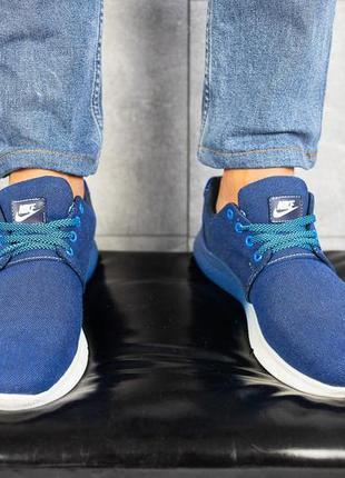 Мужские кроссовки джинсовые весна/осень синие crossav 41