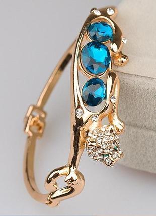 Шикарный ювелирный браслет леопард, пантера, новый! арт. 1310