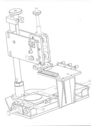 станок тампопечати  рабочий стол 200мм х 200мм.