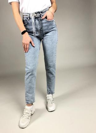 Женские джинсы мом-варенка