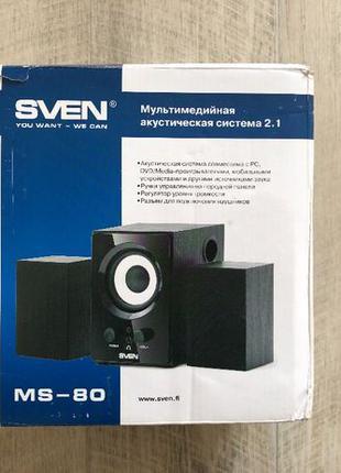 Акустическая система Sven MS-80 Black UAH