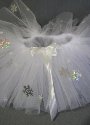 Фатиновая юбка со снежинками