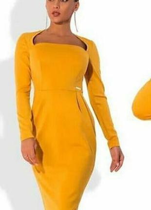 Женское трикотажное платье, платье полубатальное