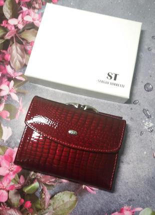 Кожаный кошелек шкіряний гаманець жіночий