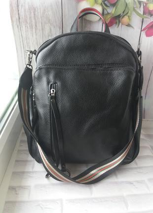 Женская кожаная сумка - рюкзак кожаный женский жіночий шкіряни...