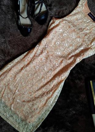 Короткое вечернее платье/кружевное персиковое платье короткое ...