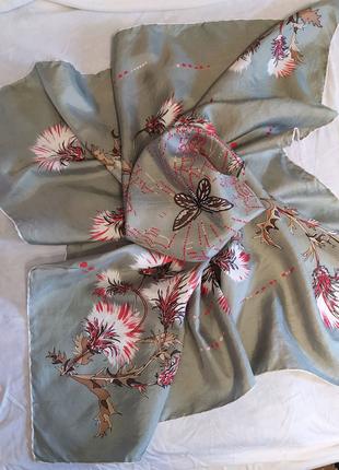 Брендовый подписной шелковый платок, оригинал Manolo Borromeo
