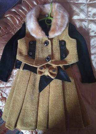Теплый костюм девочке 5-7 лет