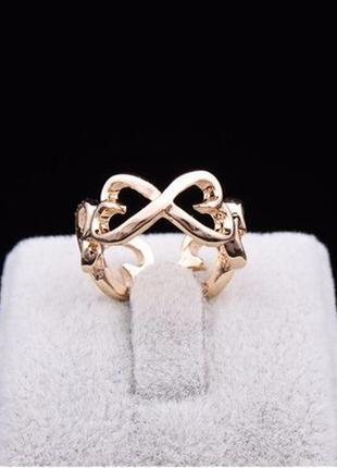 🏵️нарядное позолоченное кольцо сердце, безразмерное, новое! ар...