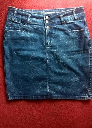 Джинсовая синяя юбка new look юбка карандаш