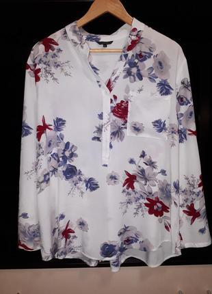 #розвантажуюсь/красивая белая блузка в цветы раз.xl