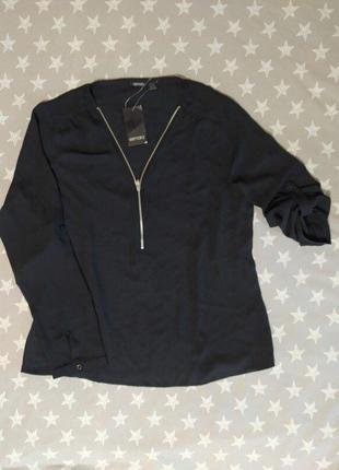 Стильная женская шифоновая блуза с молнией, рубашка блузка esm...