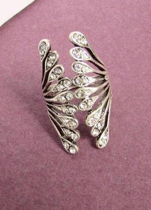 🏵шикарное ювелирное кольцо на фалангу, 18,5-19 р., новое! арт....
