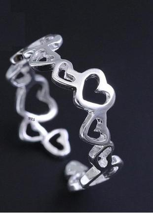 🏵️кольцо в серебре 925 сердце, новое! арт. 3407