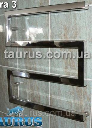 Дизайнерский водяной полотенцесушитель Ultra 3/500х500 н/ж 30х30