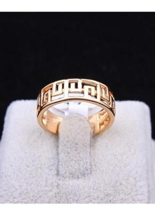 🏵️стильное золочённое кольцо с орнаментом, 17 р., новое! арт. ...