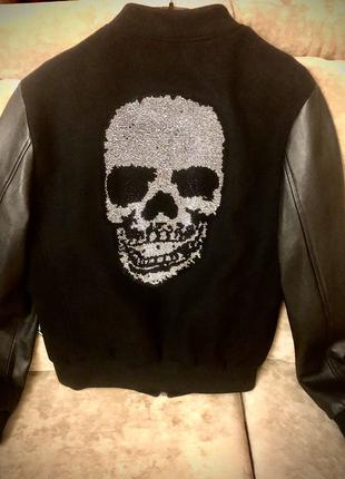 Куртка бомбер PHILIPP PLEIN новая кожаная мужская оригинал