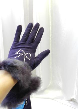 Перчатки мех деми