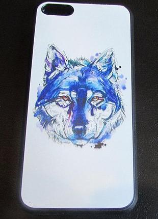 Чехол для iphone 5c рисованный волк, арт.2338