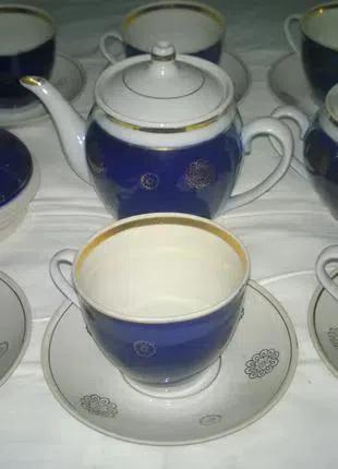 Чайный Фарфоровый Сервиз Кобальт