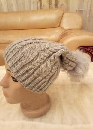 Уютная теплая шапка на флисе