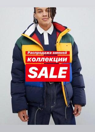 Мужской пуховик tommy hilfiger, куртка tommy hilfiger, tommy h...