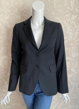Massimo dutti черный шерстяной классический костюмный офисный ...