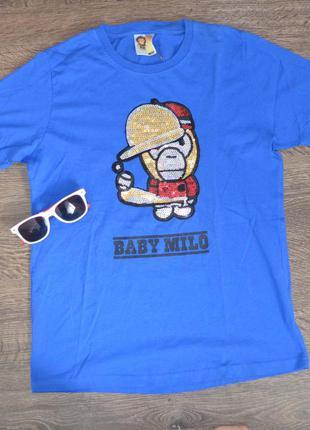 Стильная футболка свежие коллекции baby milo ®mens t-shirts