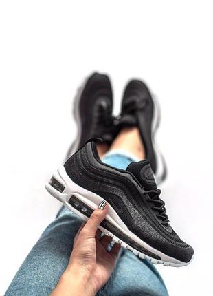 Nike air max 97 swarovski шикарные женские кроссовки найк черн...