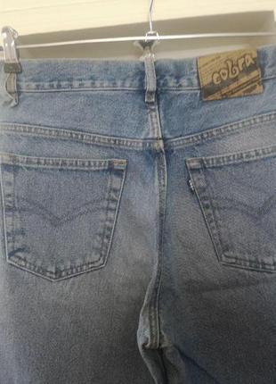 Винтажные джинсы с высокой посадкой