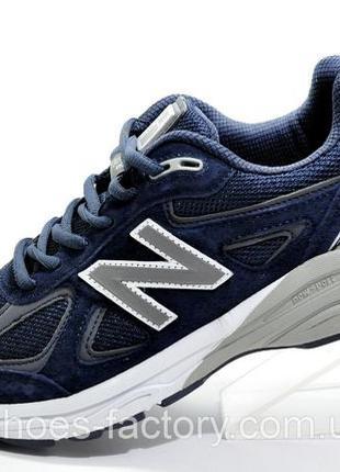 Мужские кроссовки New Balance 990, Синий, купить со скидкой