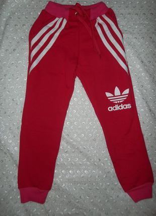 Спортивные штаны на девочку на флисе 134-122р