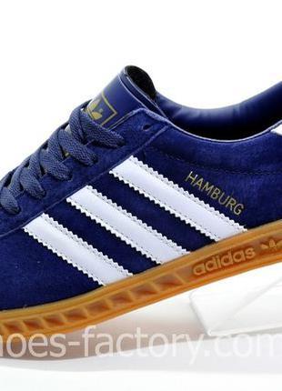 Мужские кроссовки Adidas Hamburg, Синие, купить со скидкой