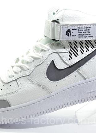 Высокие кроссовки унисекс Найк Air Force 1 Mid 2020, Белые, ку...
