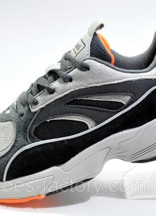 Кроссовки мужские Baas, Серый/Чёрный/Оранжевый, купить недорого