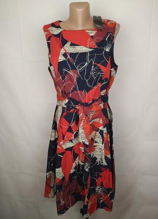 Платье новое хлопковое модное f&f uk 14/42/l