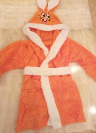 Детский махровый халатик на 2-4 года,турция