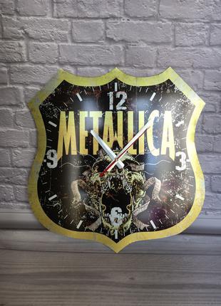 Часы настенные Metallica из металла Декор Рок Rock