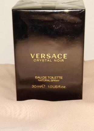 Versace crystal noir. туалетная вода для женщин 30ml.