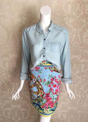 Abercrombie and fitch оригинал короткая джинсовая блуза рубашка